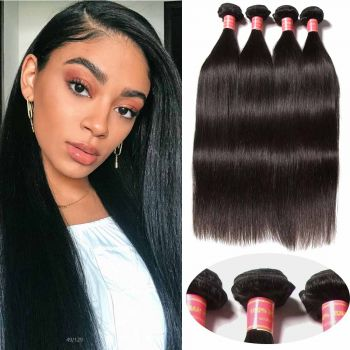 Donmily 4 Bundles of Peruvian Straight Hair