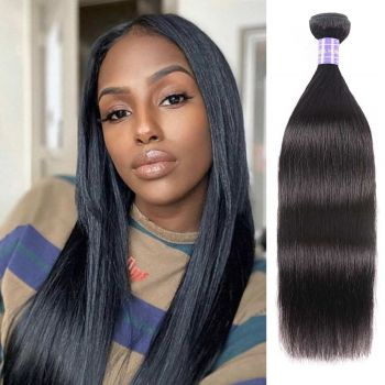 1 bundle straight hair