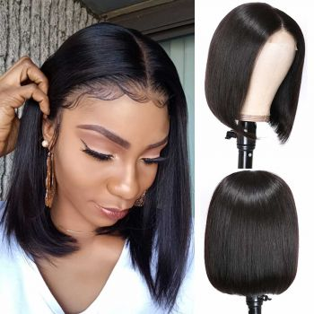 Donmily 4*4 Lace Front BoB Straight Hair 150% Density Wigs Baby Hair
