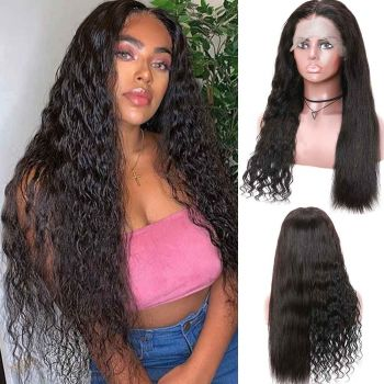 Donmily Straight Turn To Deep Wave After Wet Pre-plucked 13x4 Lace Front Human Hair Wigs 150% Density