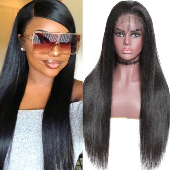 Donmily New Transparent 13*4 Lace Front Wig Silky Straight 150% & 180% Density Super Natural Hairline