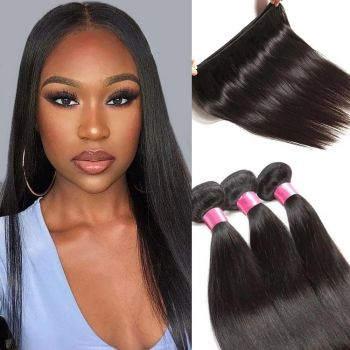 Donmily 3 Bundles of Malaysian Straight Hair