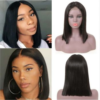 13x4 lace front wig straight bob style 1