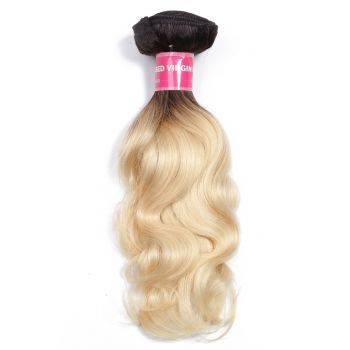 Donmily 1 Bundle T1B/613 Ombre Body Wave Hair