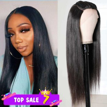 Donmily Three Part Lace Wigs Straight Wigs Pre Plucked Lace Part Wig