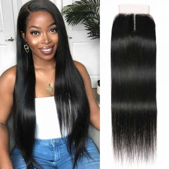 4*0.75 T Part Lace Closure Straight Hair