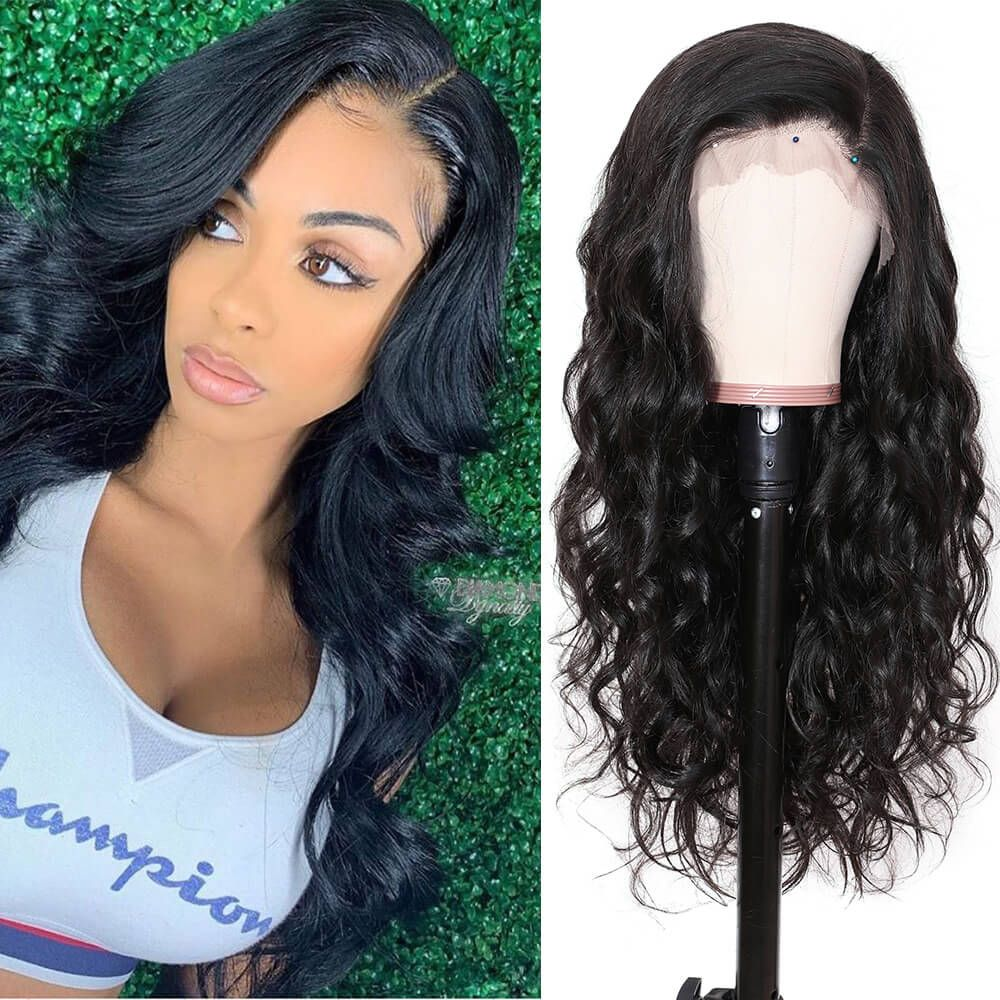 13 6 body wave transparent lace front wig