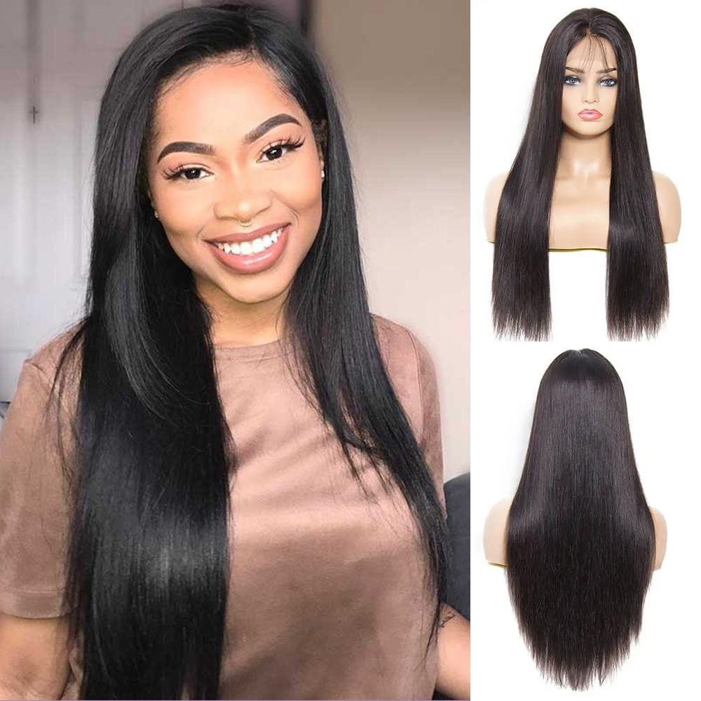 13 4 straight lace front wig 130 density
