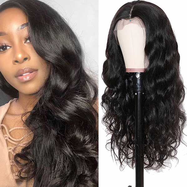 13 4 body wave transparent lace front wig