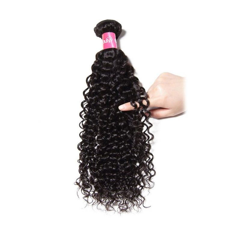 Donmily 1 Piece Curly Hair Weave Jerry Curly Hair Bundle, Human Hair Weaving For Sale