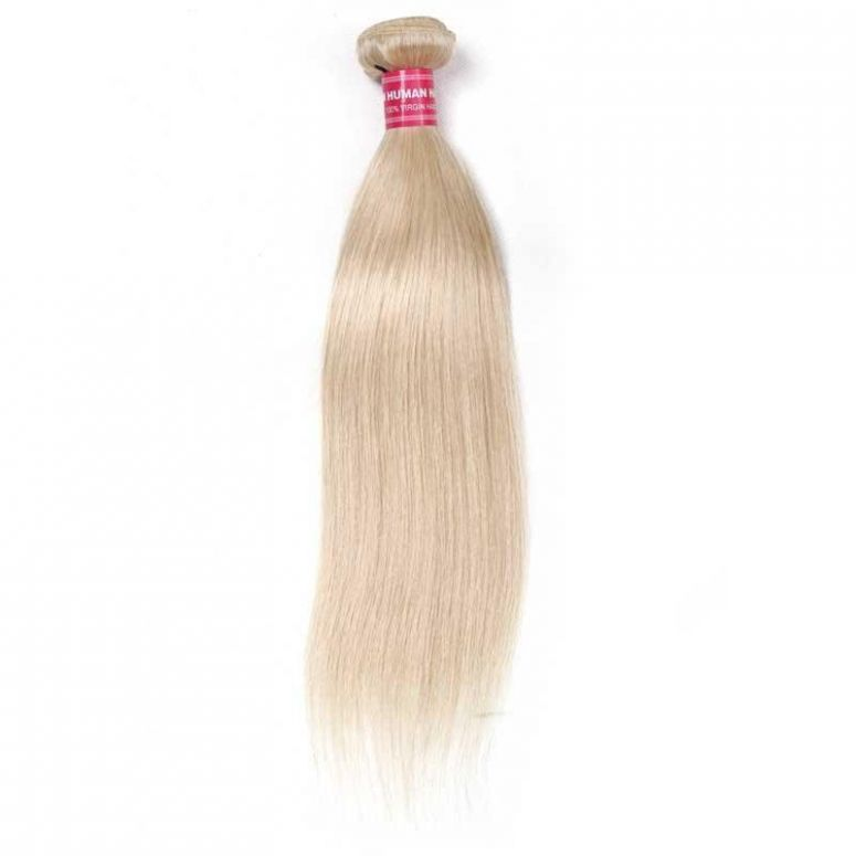 Blond 613# Straight Hair Weave 16'-24' 1 Bundle 100% Human Hair Weave