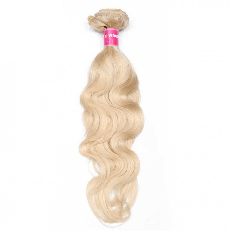 "Blond 613# Hair Bundle Body Wave 16""-24"" 1 Bundle 100% Human Hair Weave"