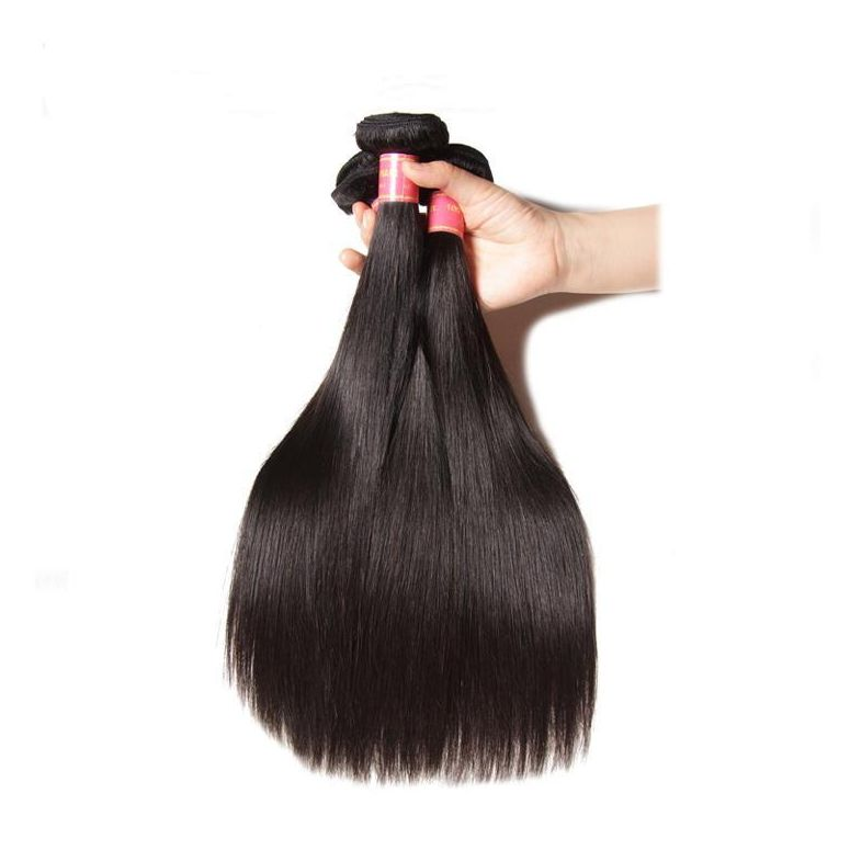 Donmily Peruvian Straight Hair 3 Bundles, Virgin Human Hair Bundles, Remy Hair Bundles 95-100g/bundle, 3 bundles/pc