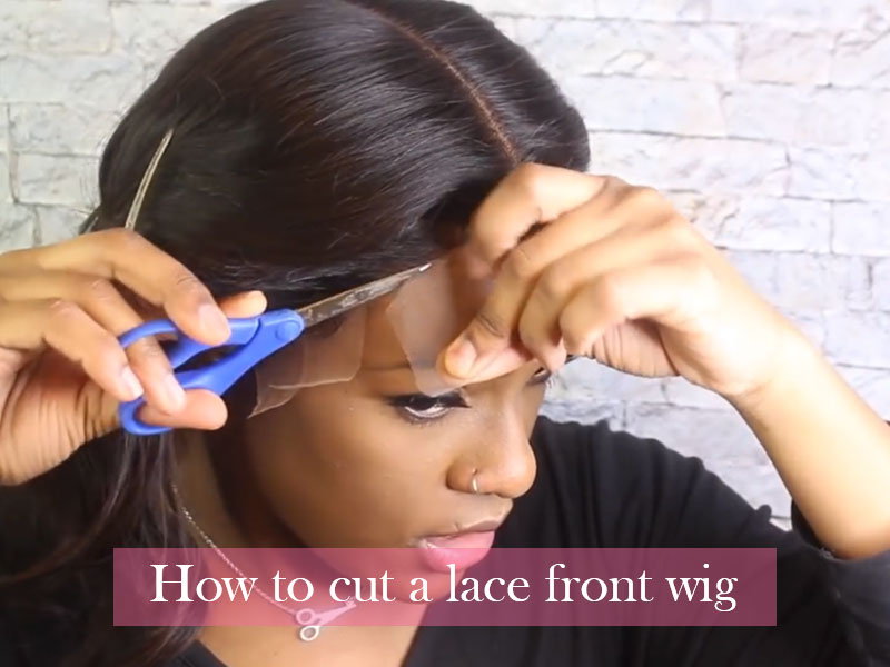 cut a lace front wig