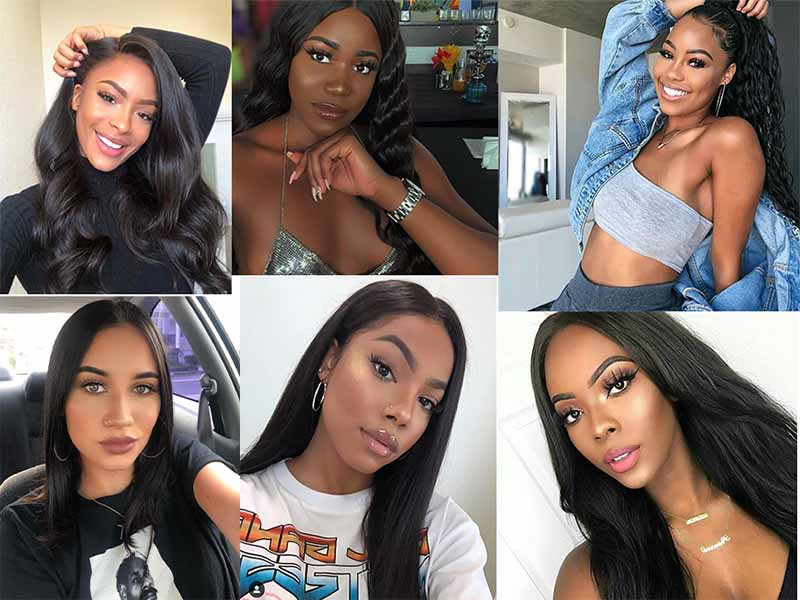 different lace wig types