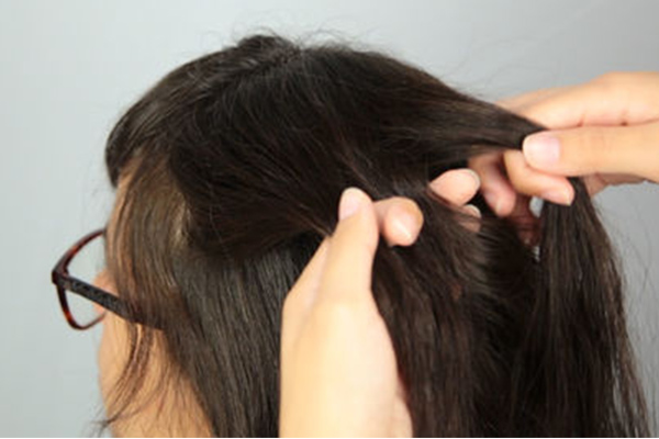 separate hair into chunks