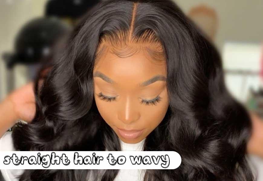 straight hair to wavy
