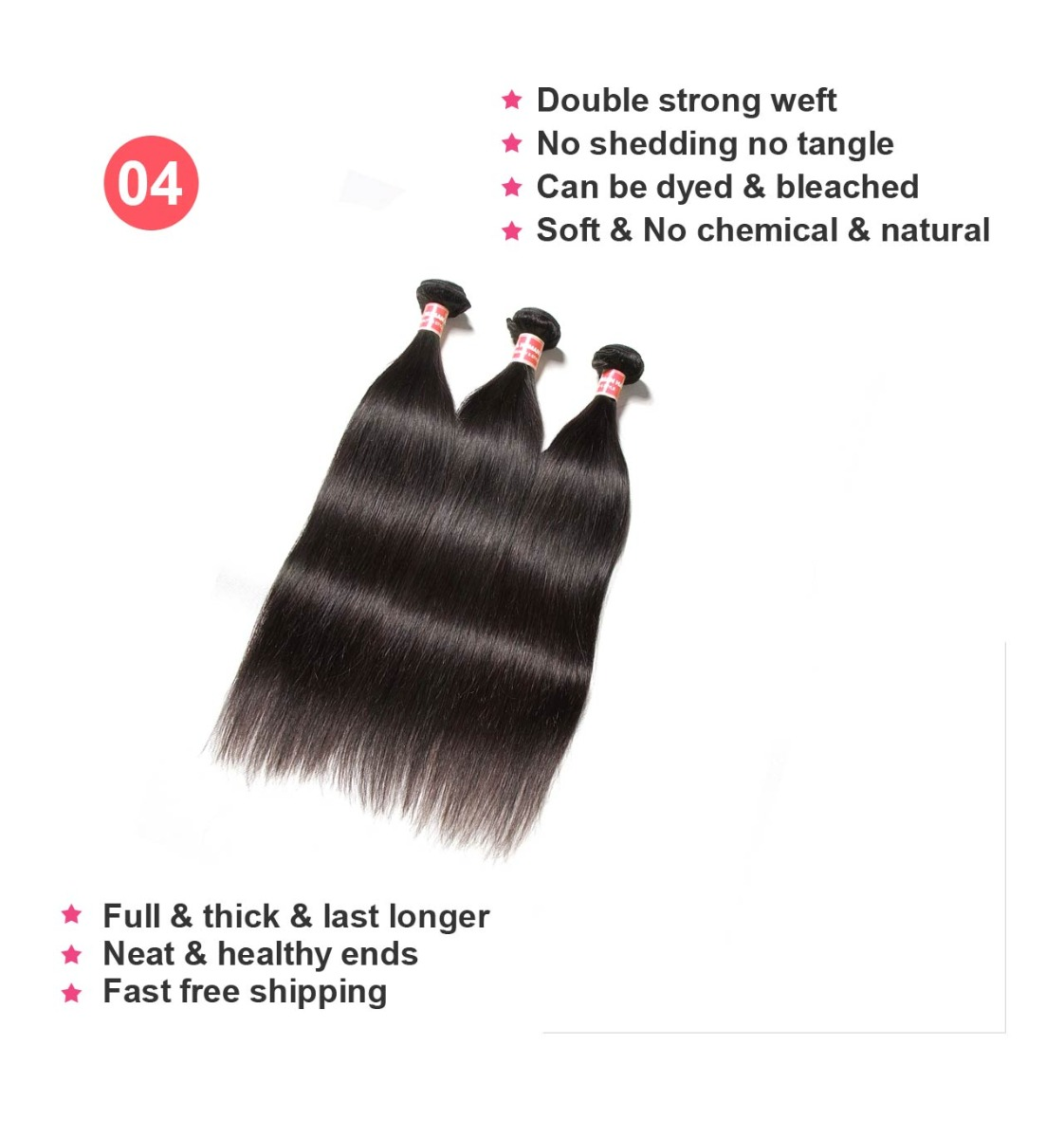 3 bundles human hair weft