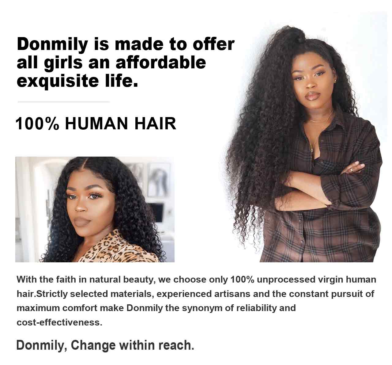donmily 100% virgin human hair