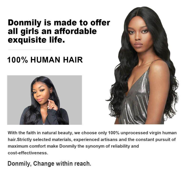 donmily virgin human hair