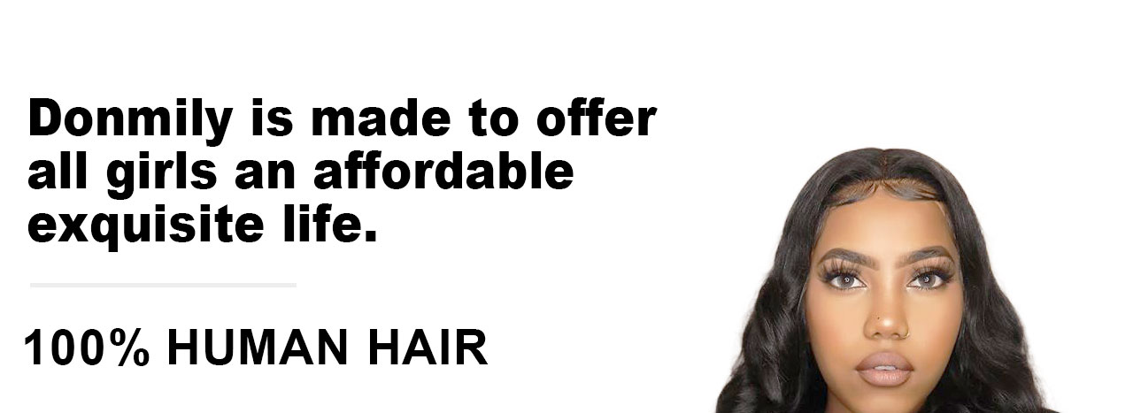 donmily virgin human hair