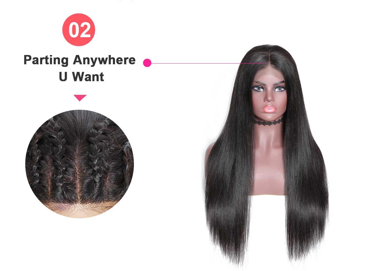 hair part detail