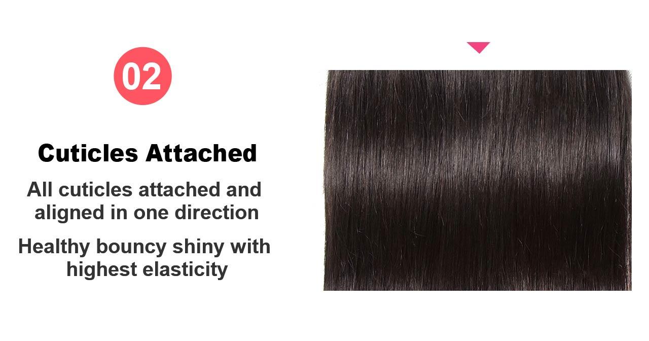 human hair weft detail