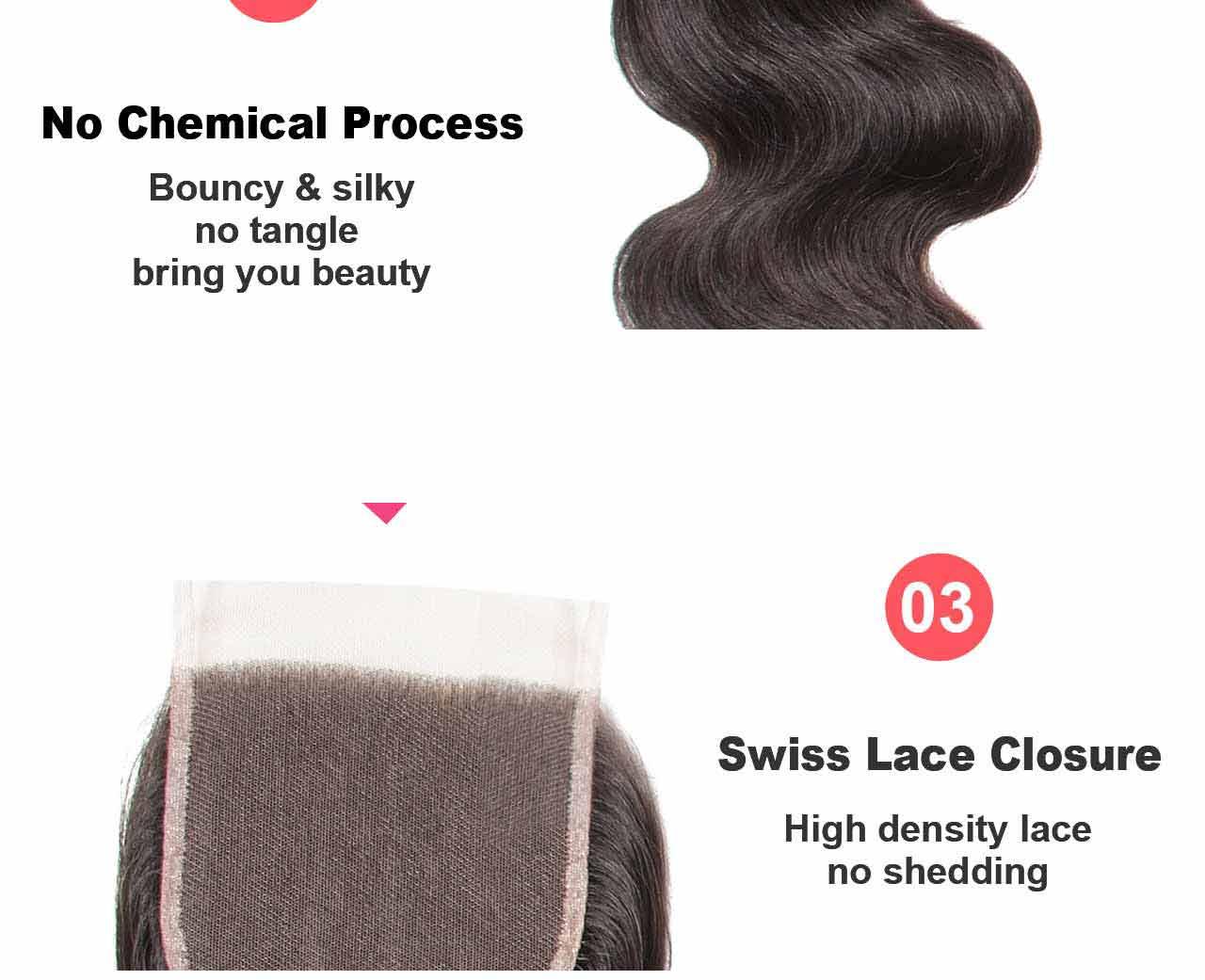 swiss hair closure