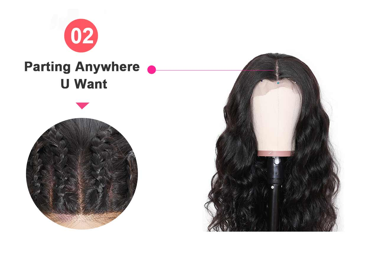 transparent wigs feature